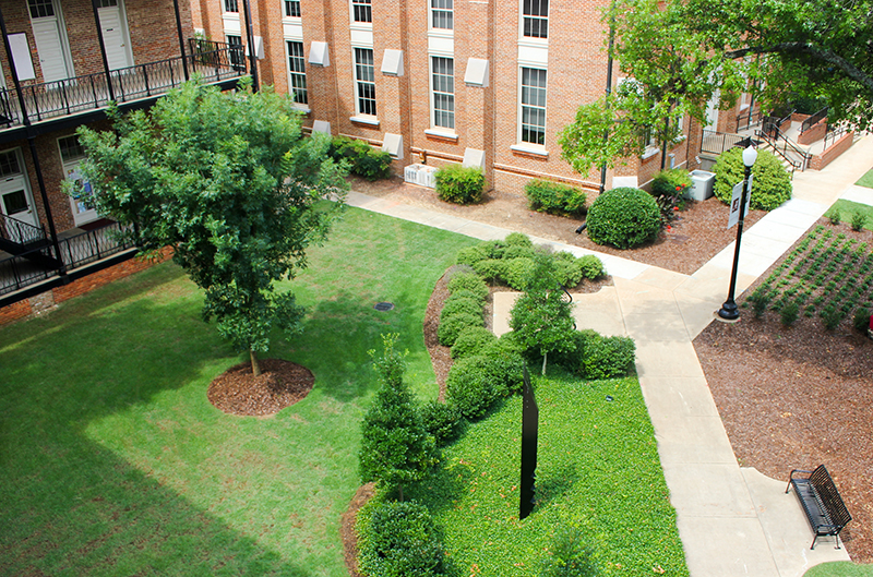 Woods Quad, a sculpture garden and green space on the UA campus